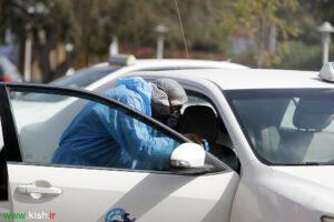 ضدعفونی کردن ناوگان حمل و نقل عمومی برای مقابله با ویروس کرونا در کیش