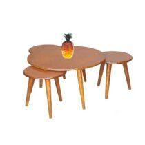 میز جلو مبلی طرح گرد مجموعه 4 عددی