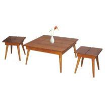 میز جلو مبلی مدل پازل مجموعه 3 عددی
